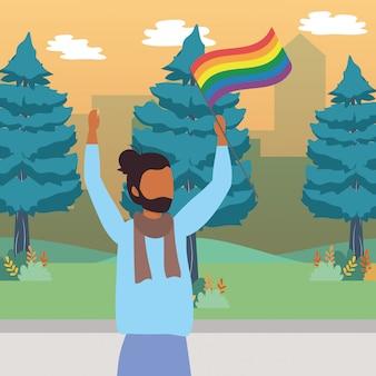 Homoseksuele trotse cartoonillustratie