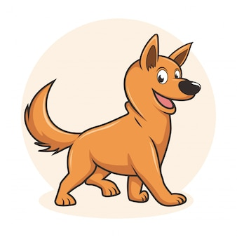Hond cartoon cute carolina dog type