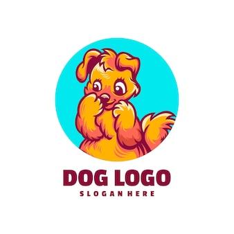 Hond cartoon logo ontwerp