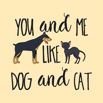 Hond en kat posterontwerp
