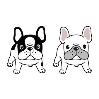 Hond franse bulldog illustratie