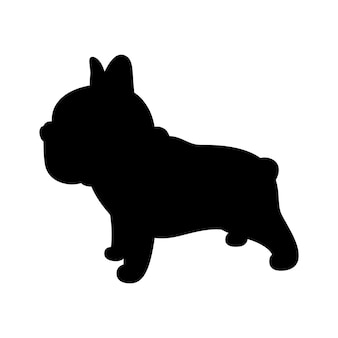 Hond franse bulldog pictogram cartoon