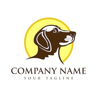 Hond herder mascotte logo sjabloon