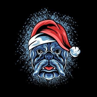 Hond hoofd kerstmis illustratie