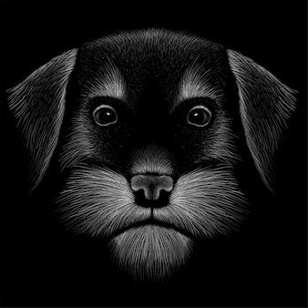 Hond hoofd tekening illustratie