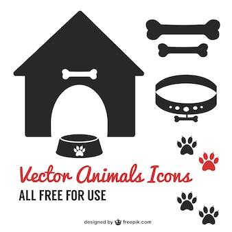Hond huisdier pictogram symbolen gratis te downloaden