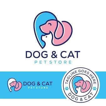 Hond kat dierenwinkel logo
