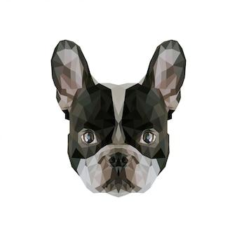 Hond laag poly kunstwerk
