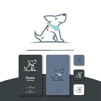 Hond lijn logo ontwerp vector