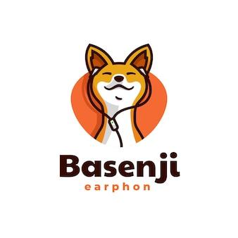 Hond mascotte cartoon stijlsjabloon logo
