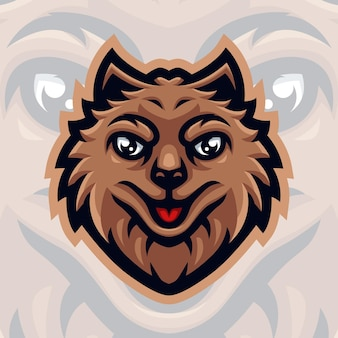 Hond mascotte logo voor gaming twitch streamer gaming esport youtube facebook