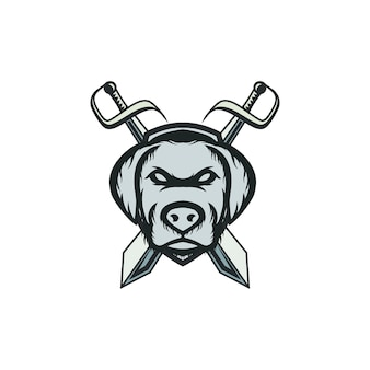 Hond mascotte logo
