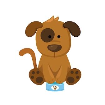 Hond met voer kan