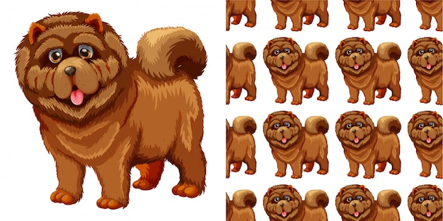 Hond naadloos patroon