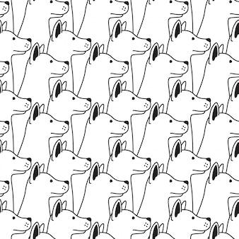 Hond naadloze patroon vector geïsoleerd