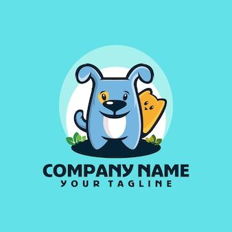 Hond schattig logo sjabloon vector