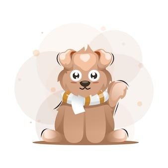Hond schattige illustratie