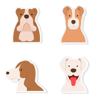 Hond sticker set vector
