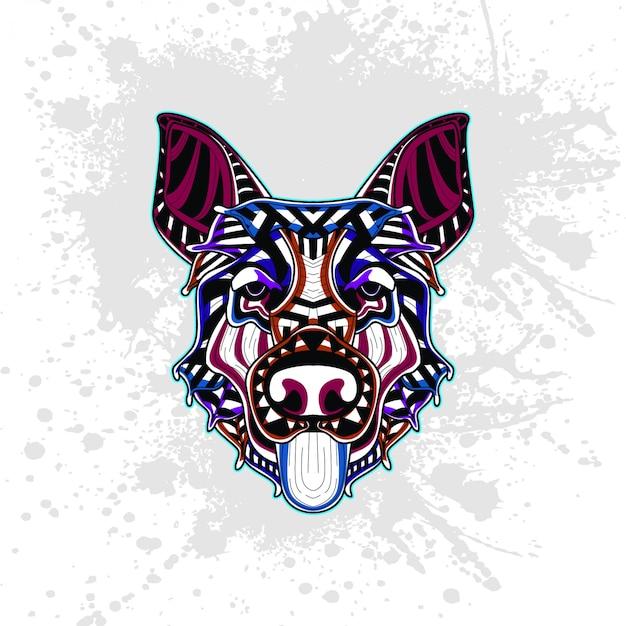 Hond van abstract decoratief patroon