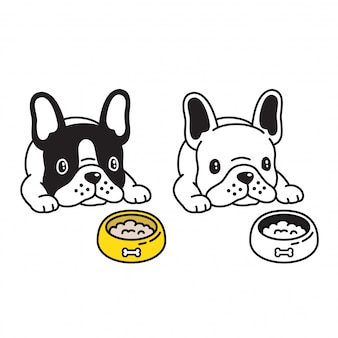 Hond vector franse bulldog cartoon
