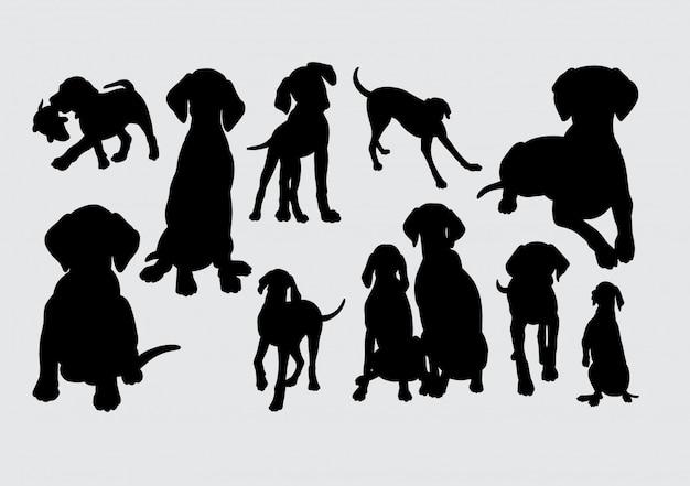 Honden dier silhouet