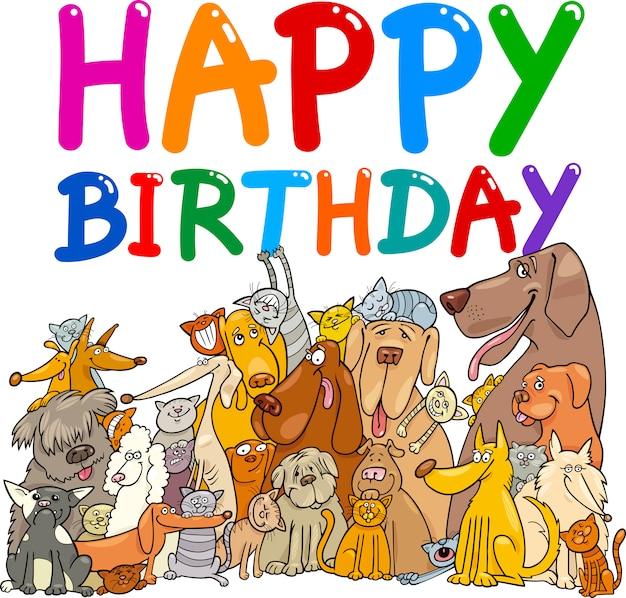 Honden gelukkige verjaardag