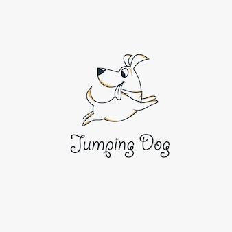 Honden sprong logo ontwerp