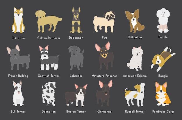 Honden verzameling
