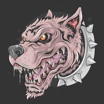 Hondenbeest hoofd punk rider