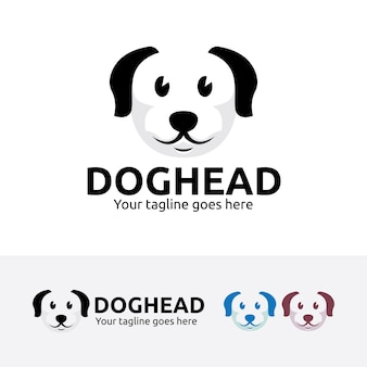 Hondenkop logo sjabloon