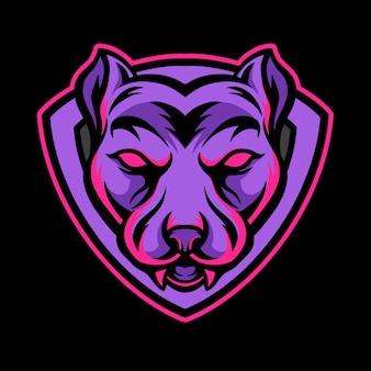 Hondenmascotte esports-logo