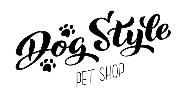 Hondenstijl belettering voor trimsalon logo voor hondenkapsalon hondenstyling en trimsalon