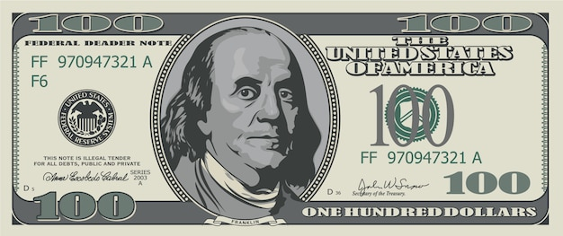 Honderd dollar.