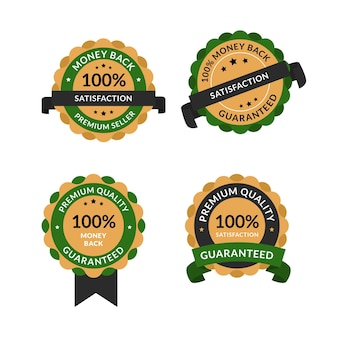 Honderd procent garantie-etiketten
