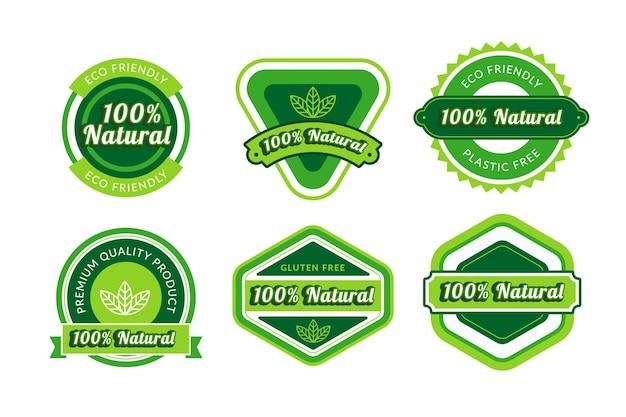Honderd procent natuurlijke badge set