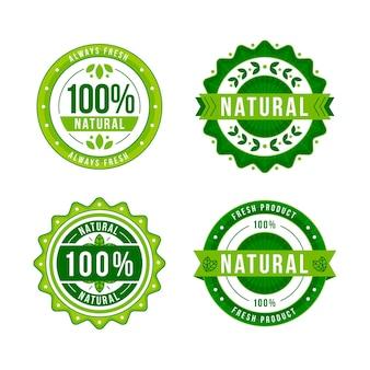 Honderd procent natuurlijke labels ingesteld