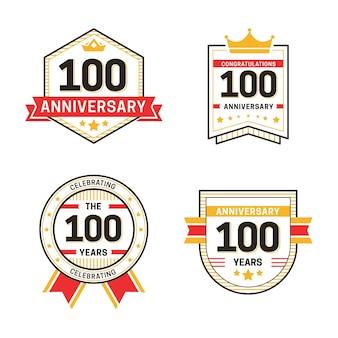 Honderd verjaardag labels-collectie