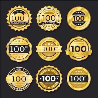 Honderd verjaardagslabels