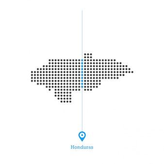 Honduras stipte kaart ontwerp vector