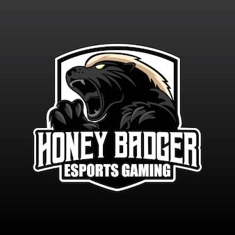 Honey badger gaming-logo-ontwerp