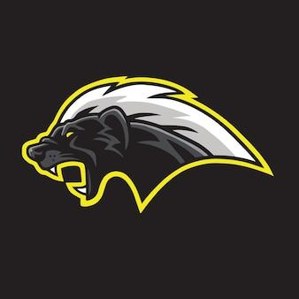 Honey badger mascot logo template vector