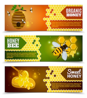 Honey banners set