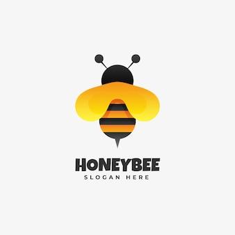 Honey bee gradient kleurrijke stijl logo