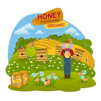 Honey concept illustration
