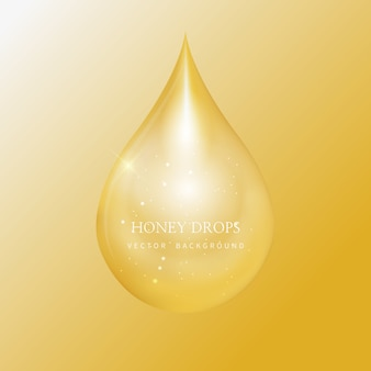 Honey drip en honey background