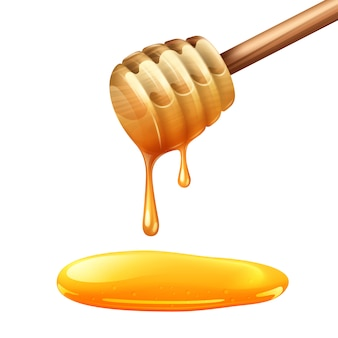 Honey stick illustration