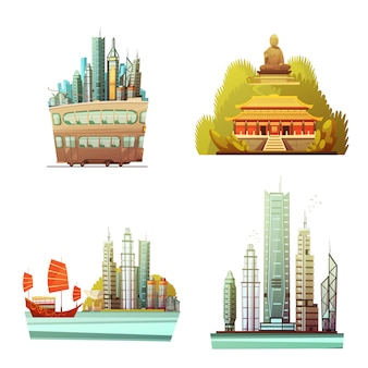 Hong kong ontwerpconcept
