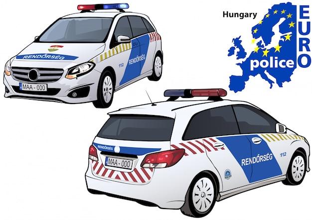 Hongaarse politie-auto