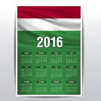 Hongarije kalender van 2016