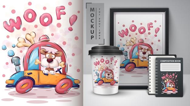 Hongerige hond poster en merchandising